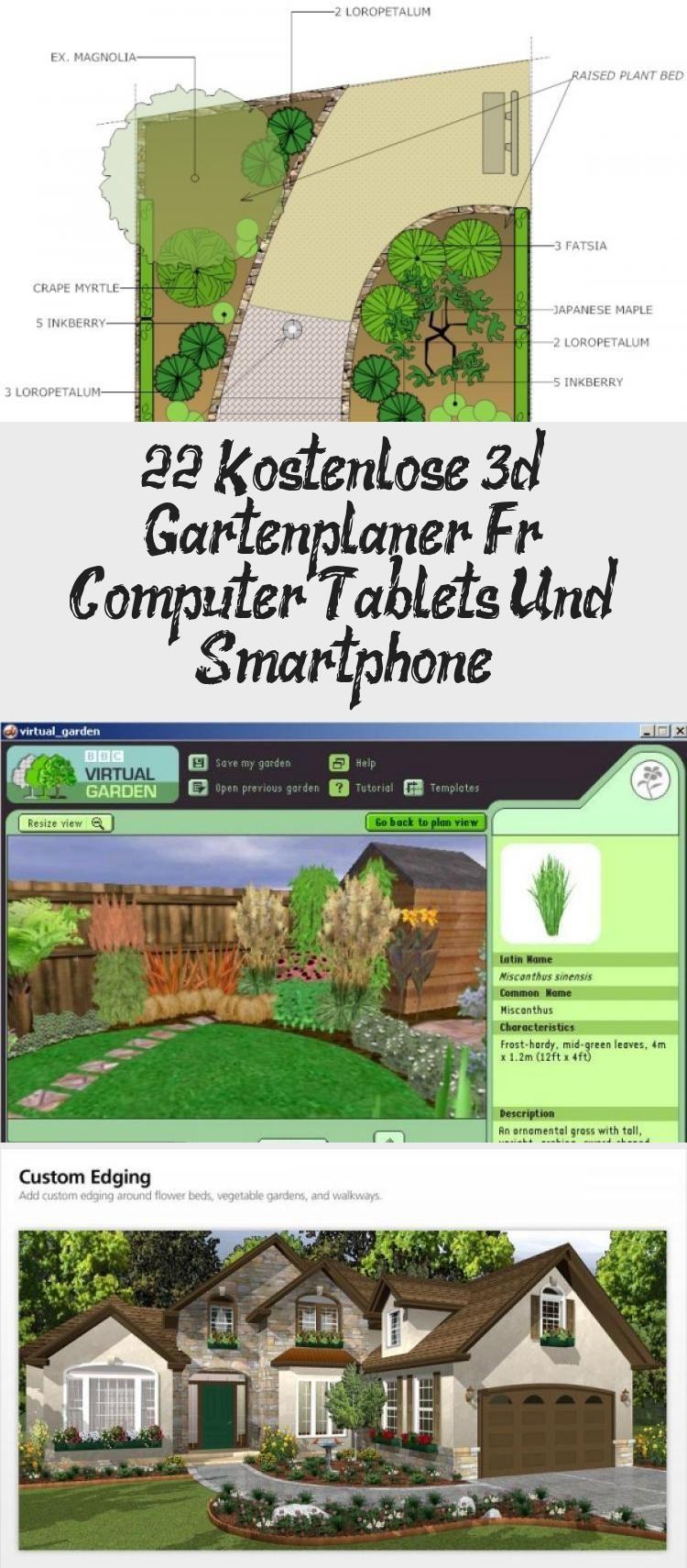 22 Kostenlose 3d Gartenplaner Fur Computer Tablets Und Smartphone In 2020 Landschaftsbau Bepflanzung Gartenplanung