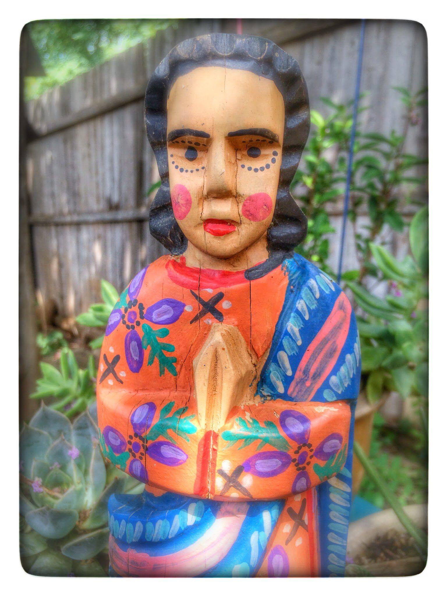 wooden art saint mexican imports santa fe new mexico backyard