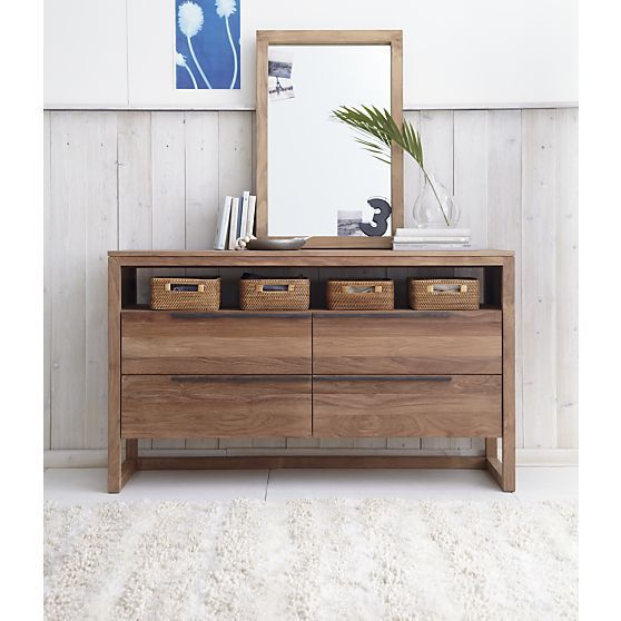 Beau Changing Table Linea 4 Drawer Dresser In Dressers, Chests | Crate And Barrel