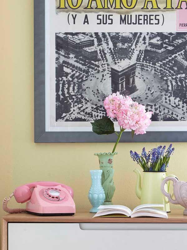 fresh pink, mint green and sunshine yellow | pink vintage retro ...