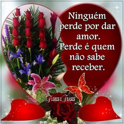 Flores E Frases Ninguém Perde Por Dar Amor Mensagens