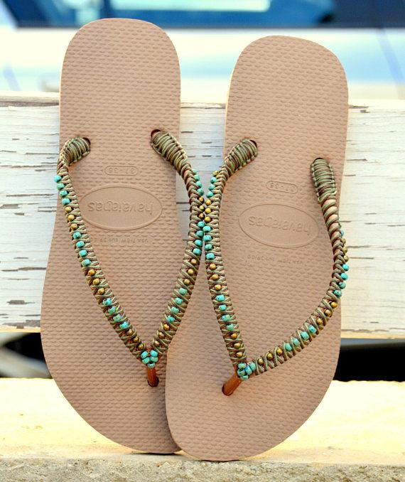 Flip Flops Havaianas Hippie Sandalen Perlen Flip Flops Perlen