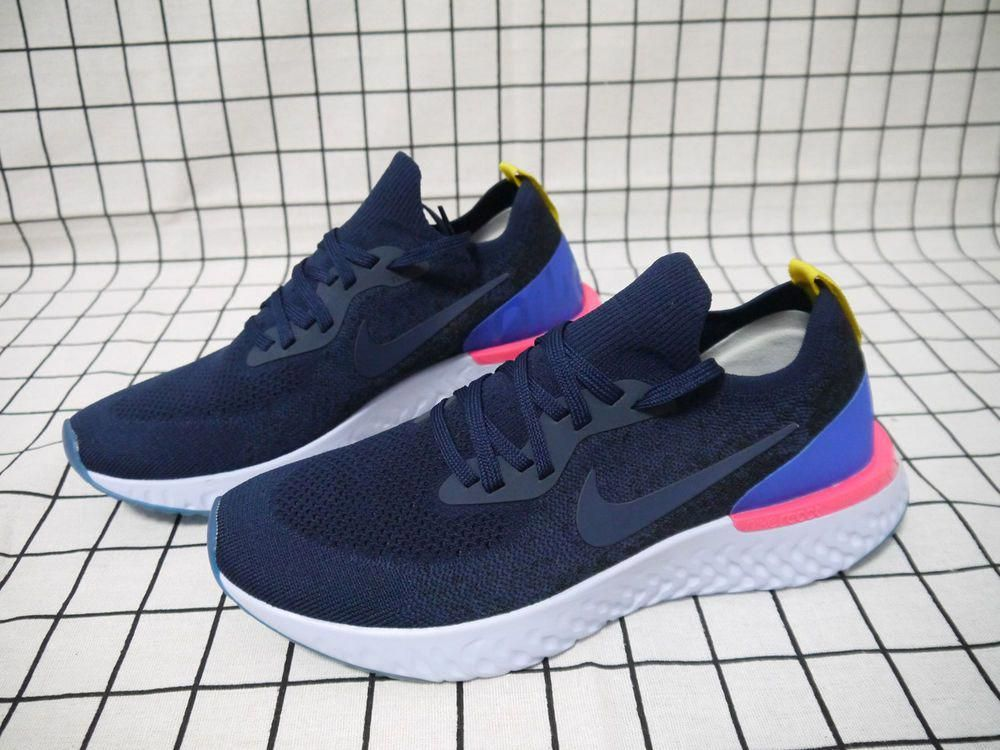 2a94f038c73 Nike Epic React Flyknit College Navy AQ0067-400 (2018) Running Shoes Size  8.5  fashion  clothing  shoes  accessories  mensshoes  athleticshoes (ebay  link)   ...