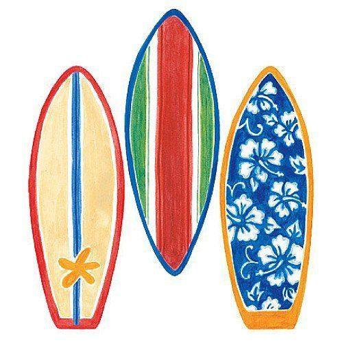12193 Wallpaper Cutout Surfboard By WALLIES
