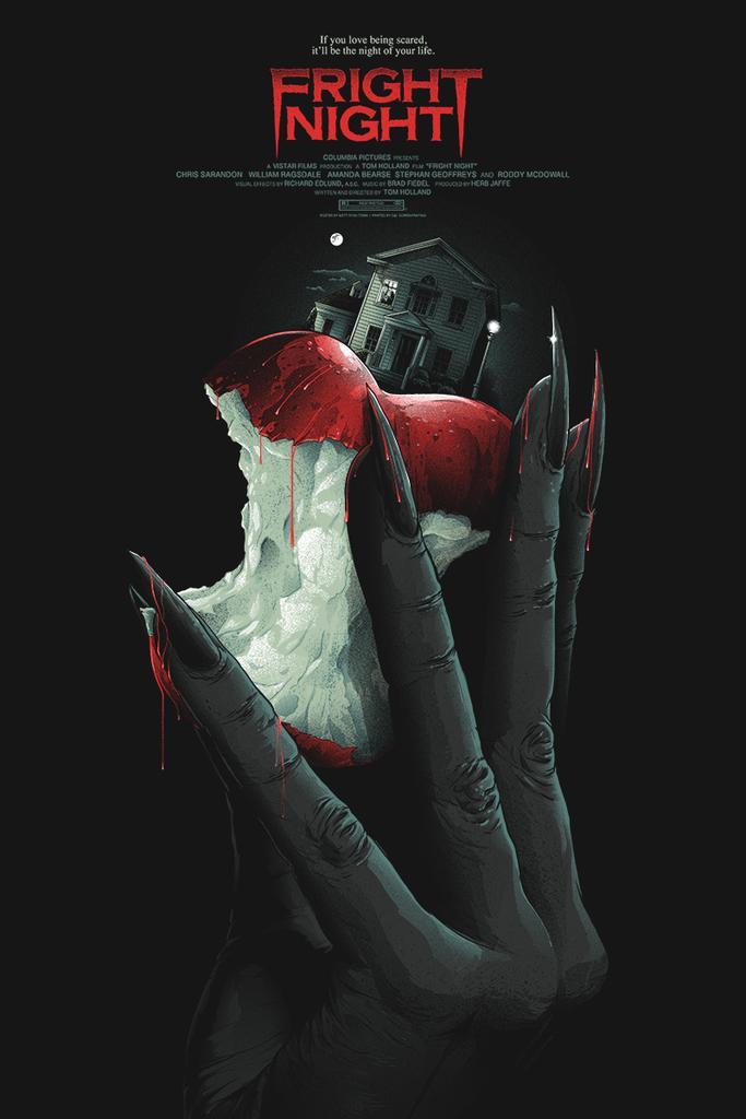 Fright Night Movie Poster Matt Ryan Tobin Movie Posters Horror Posters Film Posters Art