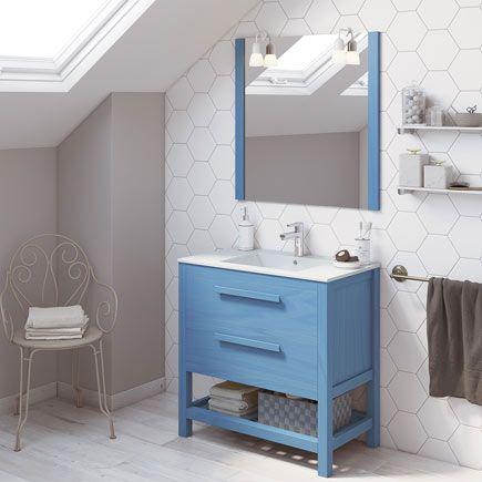 Mueble Leroy Merlin con lavabo de 60cm ancho con cajones y ...