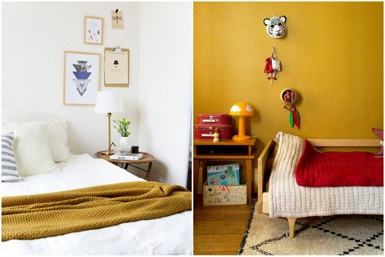 Beautiful Chambre Couleur Jaune Moutarde Ideas - lalawgroup.us ...