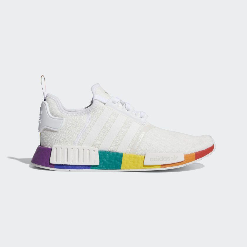 Superficie lunar Samuel Motel  adidas NMD_R1 Pride Shoes - White   adidas US in 2020   Pride shoes, Adidas  nmd r1, Adidas nmd