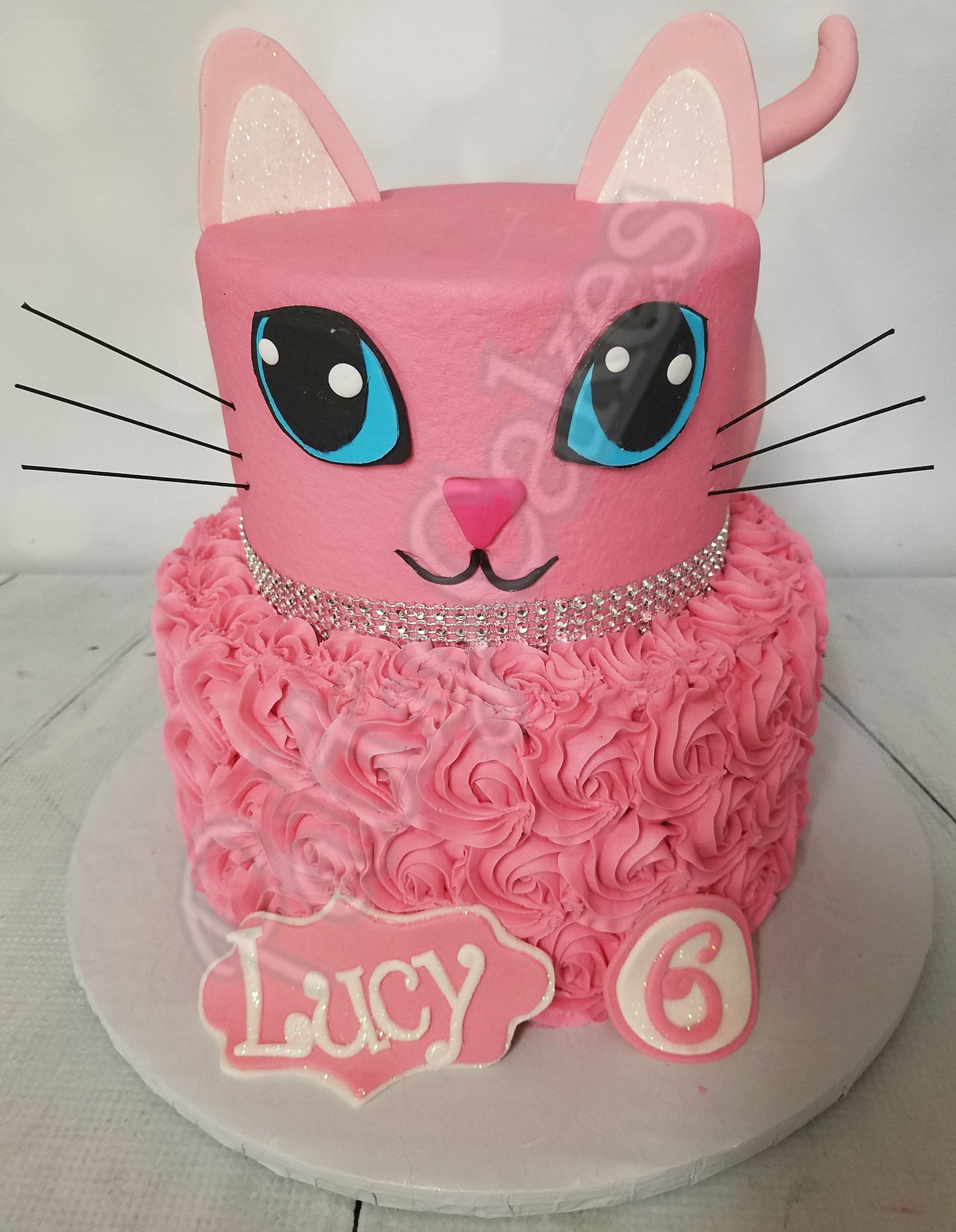 Cat 02 Kitten Birthday Party Cat Cake Birthday Cake For Cat
