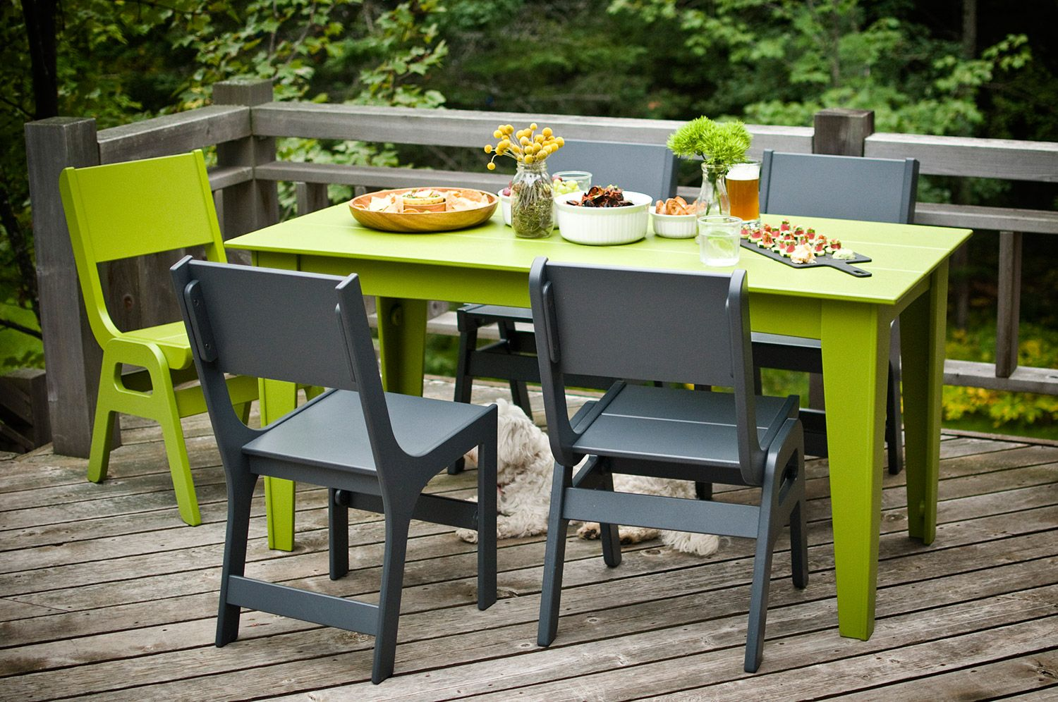 Alfresco Dining Table 62 Inch Modern Outdoor Dining