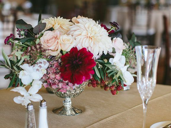 Vintage Wedding Centerpiece - Kristen Lee & Joshua - Every Last Detail - Every Last Detail
