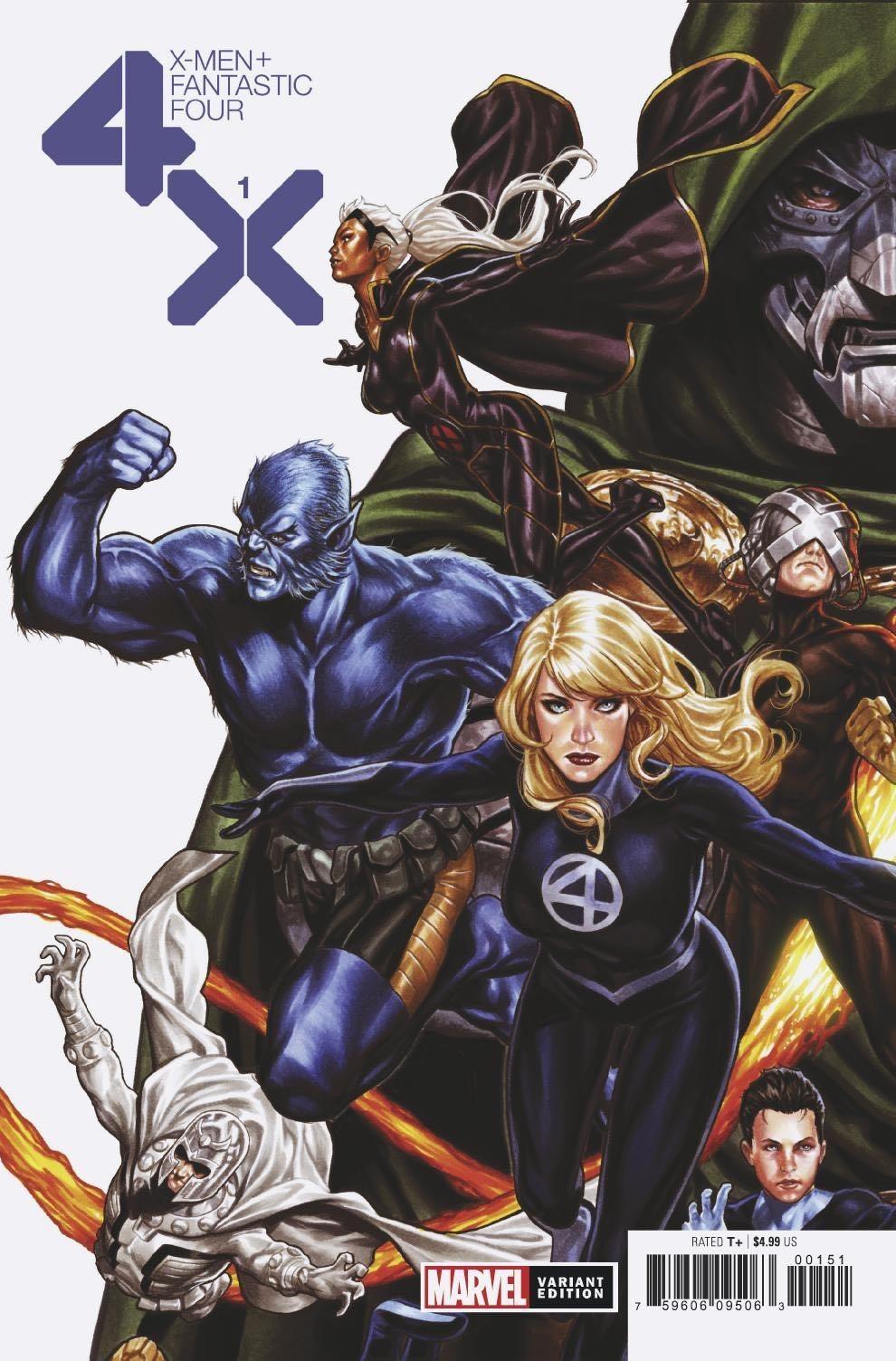 X Men Fantastic Four 1 Brooks Cover In 2020 Fantastic Four Fantastic Four Marvel Fantastic Four 1
