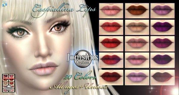 Jom Sims Creations: Caspiallina lips • Sims 4 Downloads