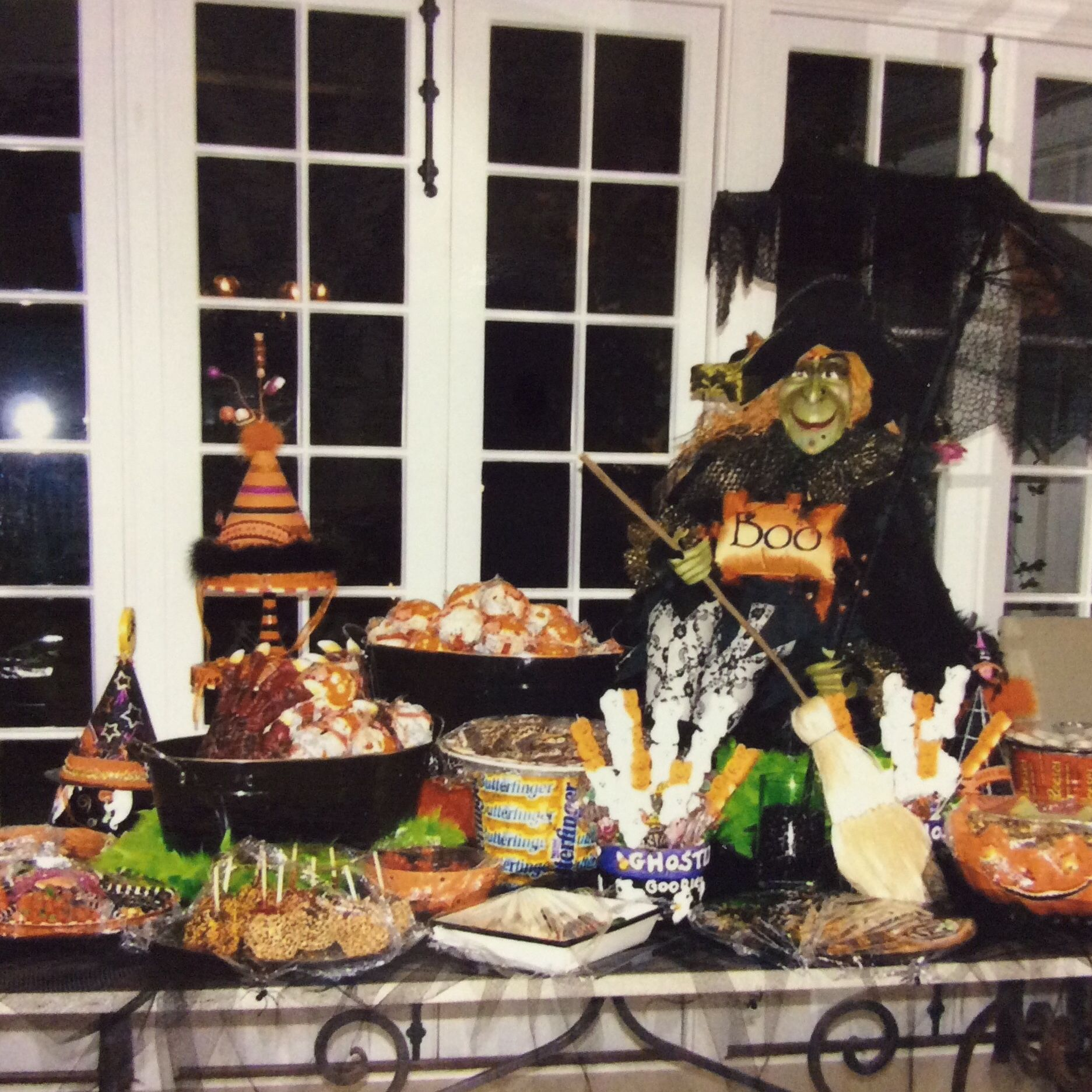 Halloween buffet table - Halloween At Home Tuscaloosa Buffet Tableswitch