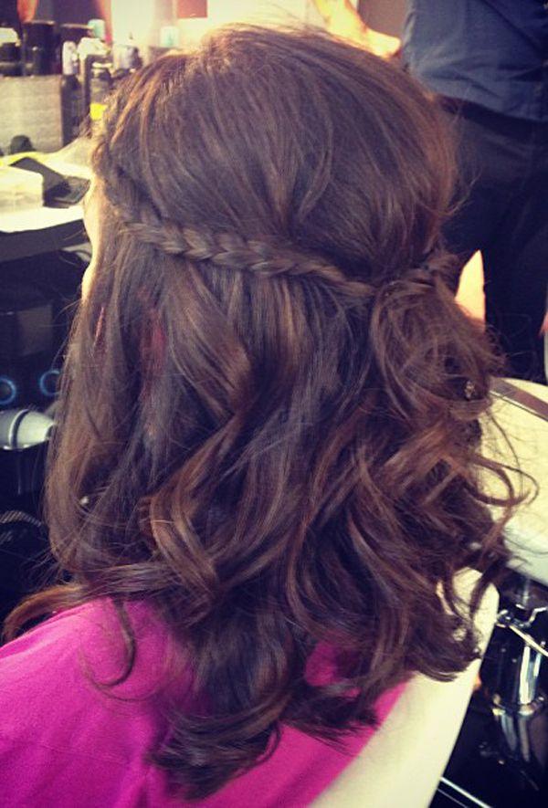 Simple Braid Hairstyle W Curls Braid Love Hair Styles Hair
