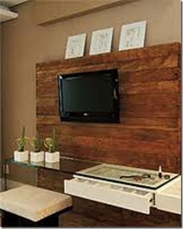 Painel tv quarto painel de tv pinterest bedrooms for Modelos de ceramica para pisos de sala