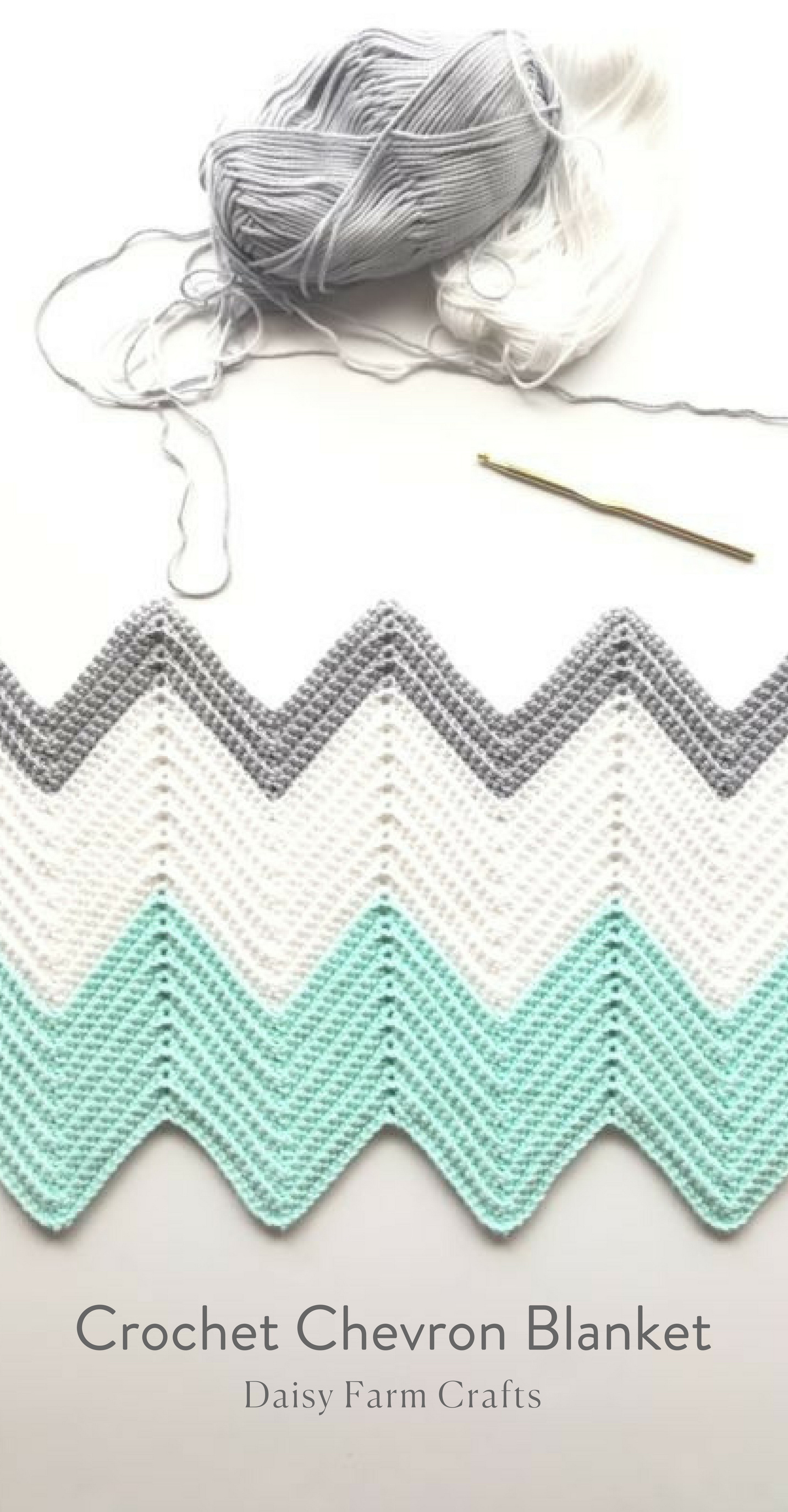 Free Pattern - Crochet Chevron Blanket | Crochet / hækle | Pinterest ...