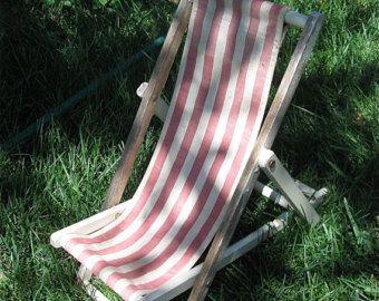 Lawn Chair Folding Wood Shabby Chic Vintage Salesman's Sample