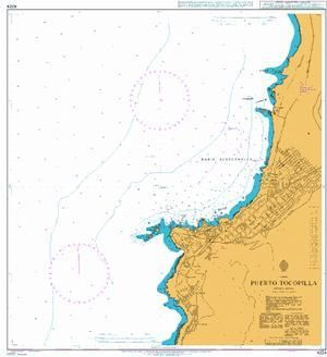 British Admiralty Nautical Chart 4224: Puerto Tocopilla