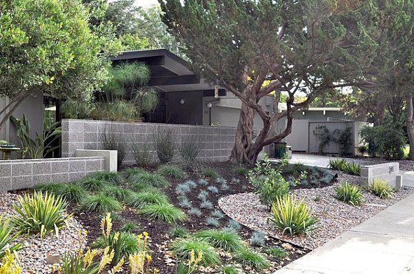Vorgarten Gestaltung Blumenbeete Definieren Kies Pflanzen