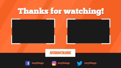Free And Customizable Youtube End Screen Templates Snappa Youtube Templates Screen