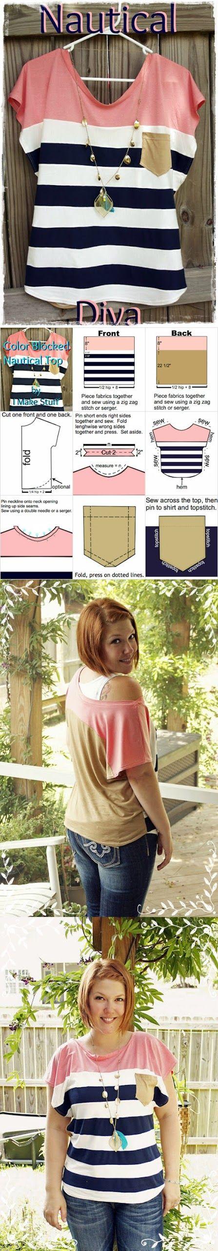 DIY Color Block Shirt