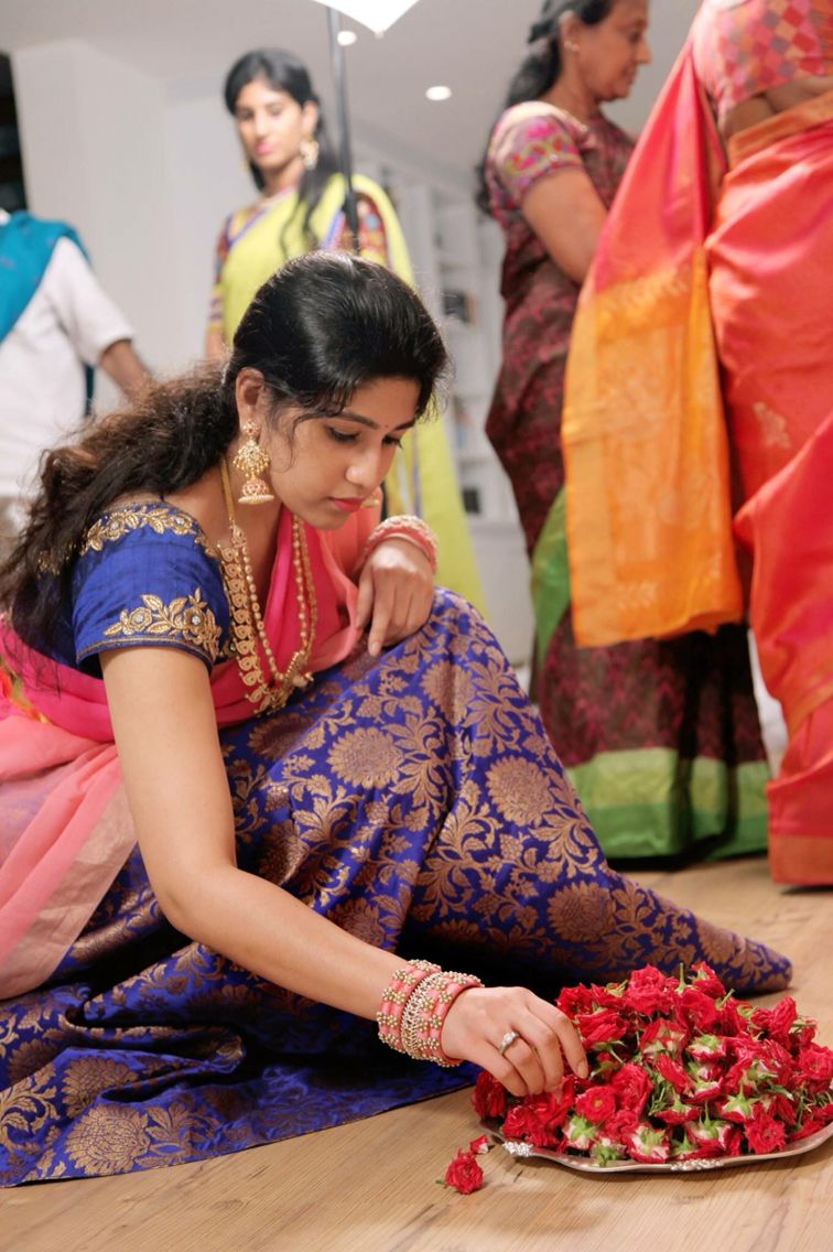Half saree blouse design half saree with brocade design  half saree colors  pinterest