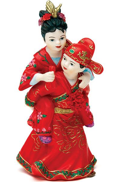 Wedding Cake Topper Asian Couple In Traditional Attire