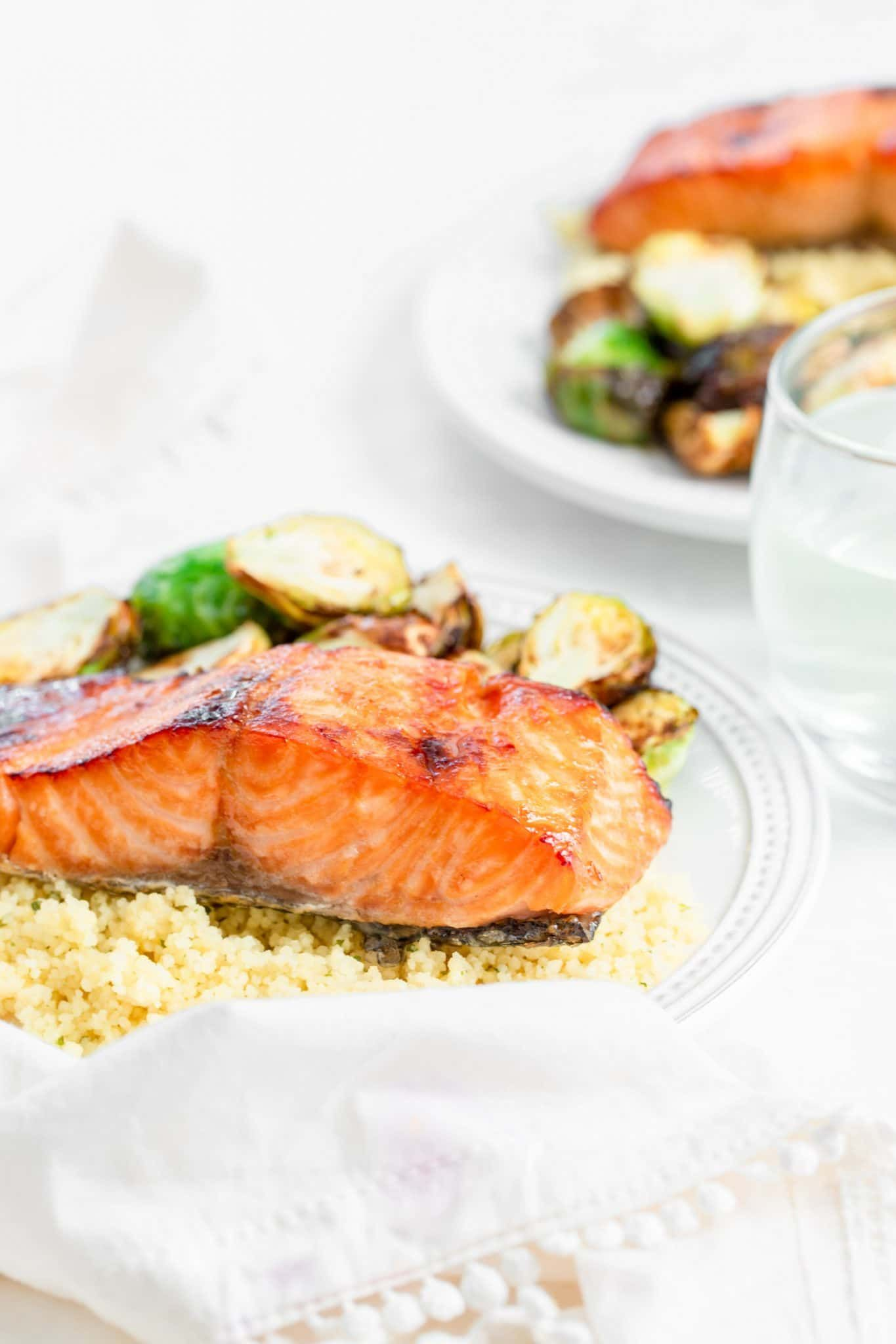 Brown Sugar & Bourbon Glazed Salmon | A Healthy Slice of Life