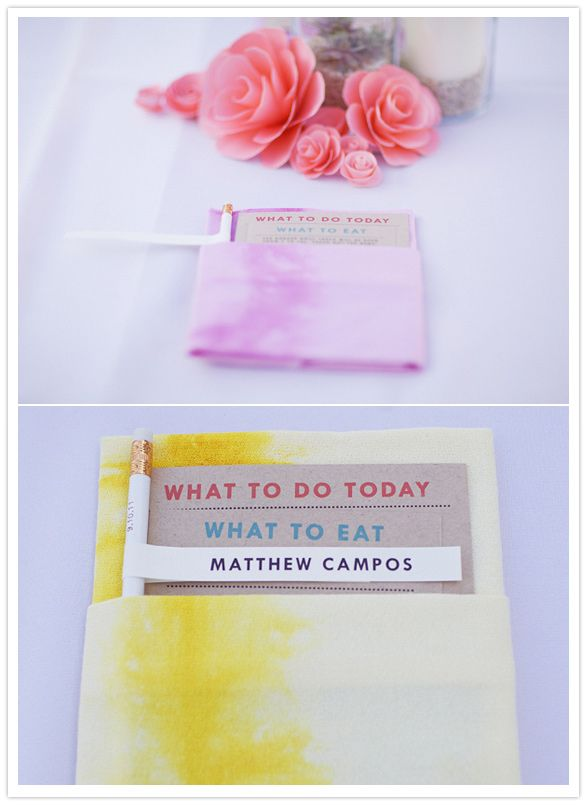 hand-dyed napkin tutorial