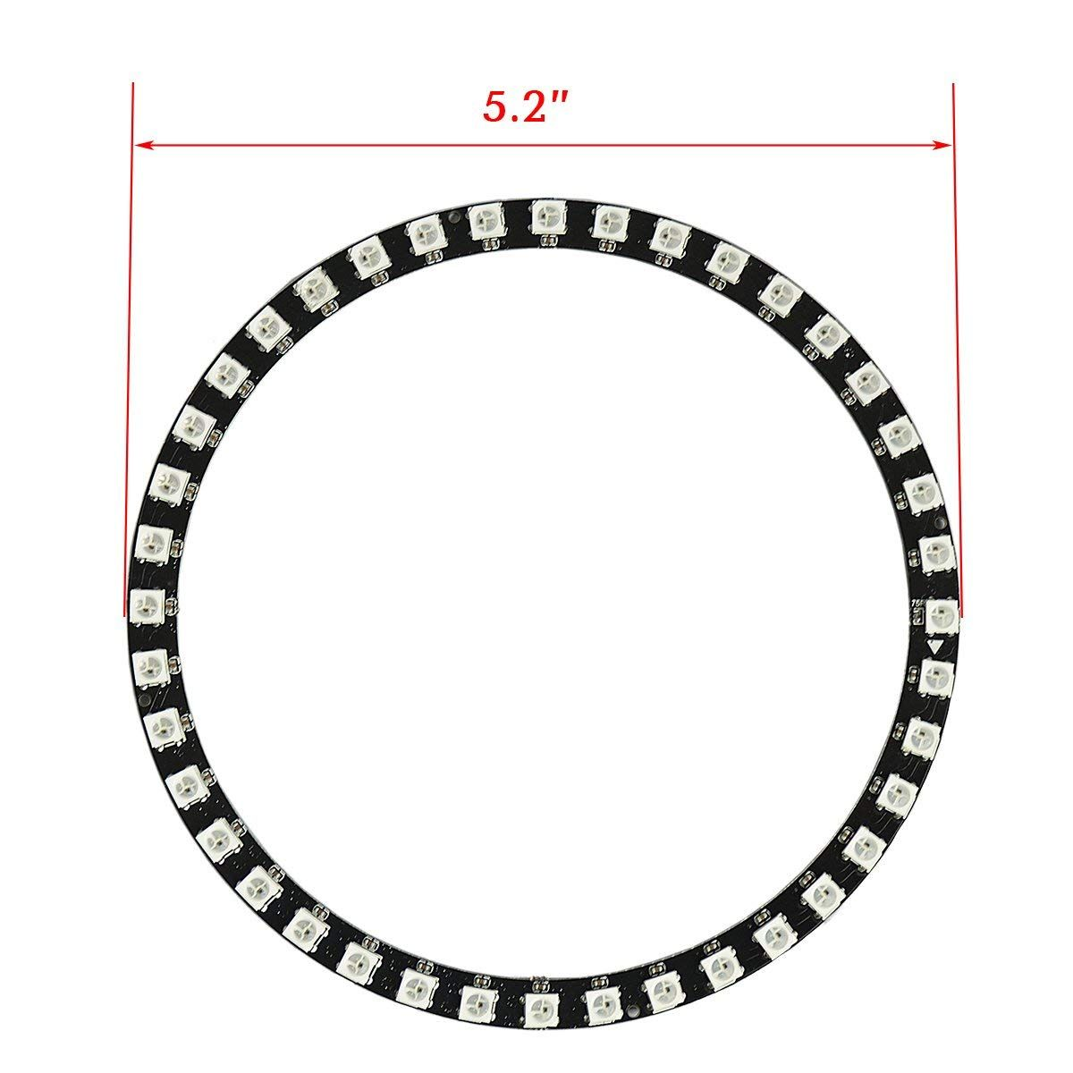 16 Bits 16 X WS2812 5050 RGB LED Ring Lamp Light with Integrated Drivers DIYmall