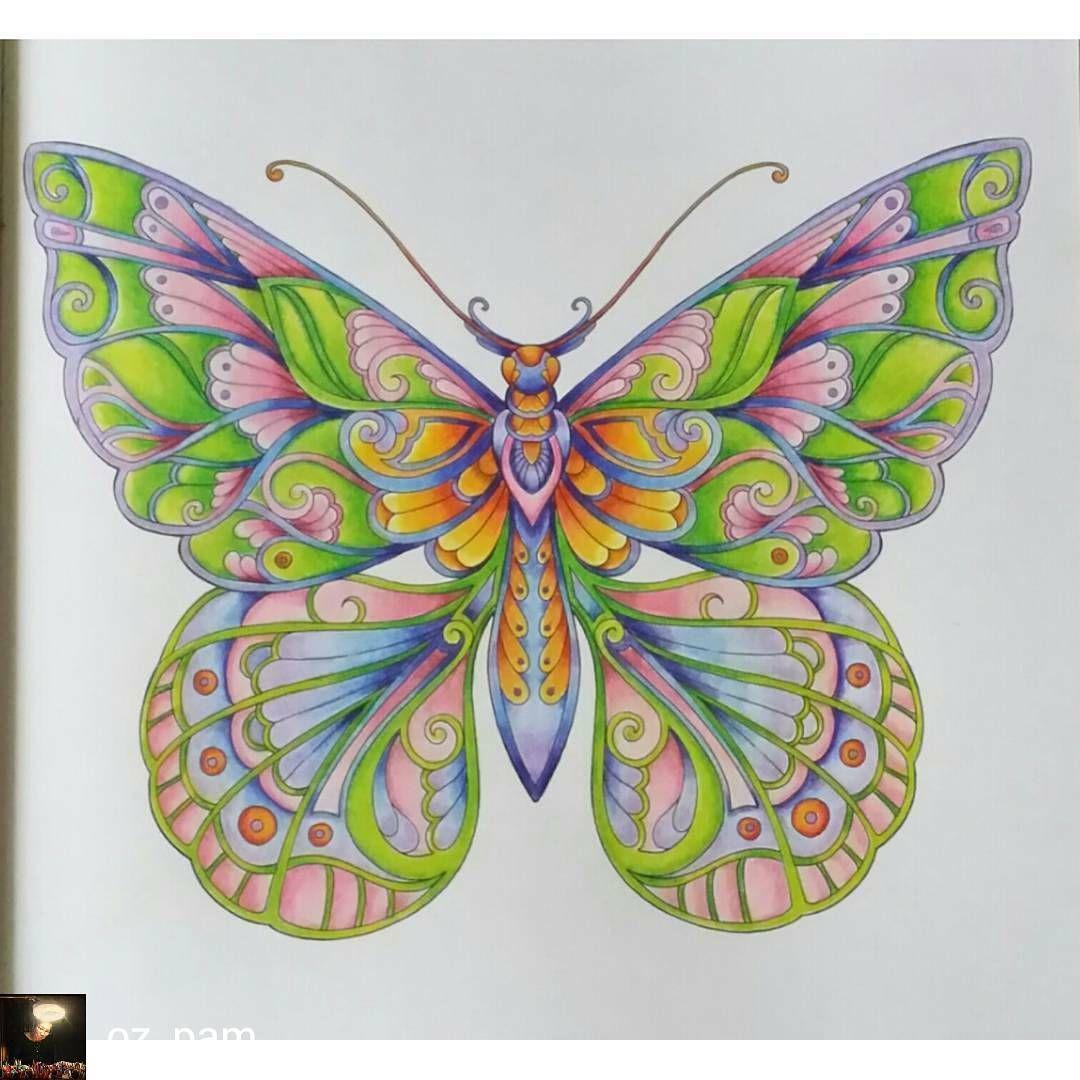 Regrann From Oz Pam Magical Jungle By Johanna Basford Dedicated To My Johanna Basford Coloring Book Coloring Book Art Magical Jungle Johanna Basford