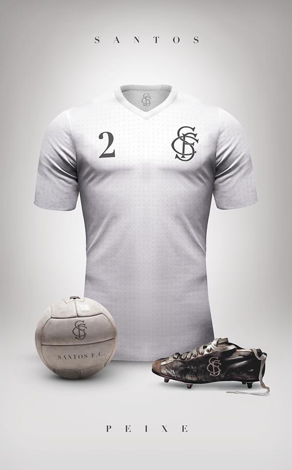 dea993a367ddf Designer cria camisas clássicas para grandes clubes da América do ...
