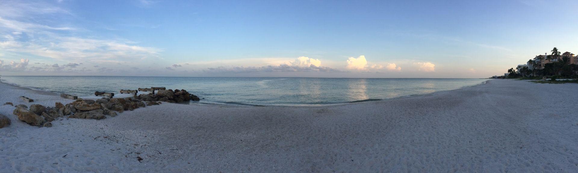 beautiful beach sunrise in naples fl [ 1920 x 575 Pixel ]
