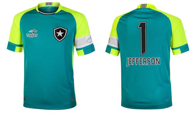 Botafogo e Topper lançam camisa exclusiva para Jefferson  f08e940d2d7f2