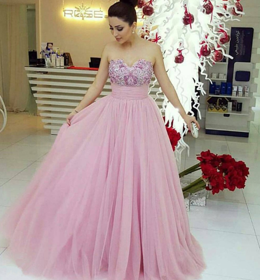 Prom DressesProm DressPink Evening Gown Ball Gown Tulle Perfect