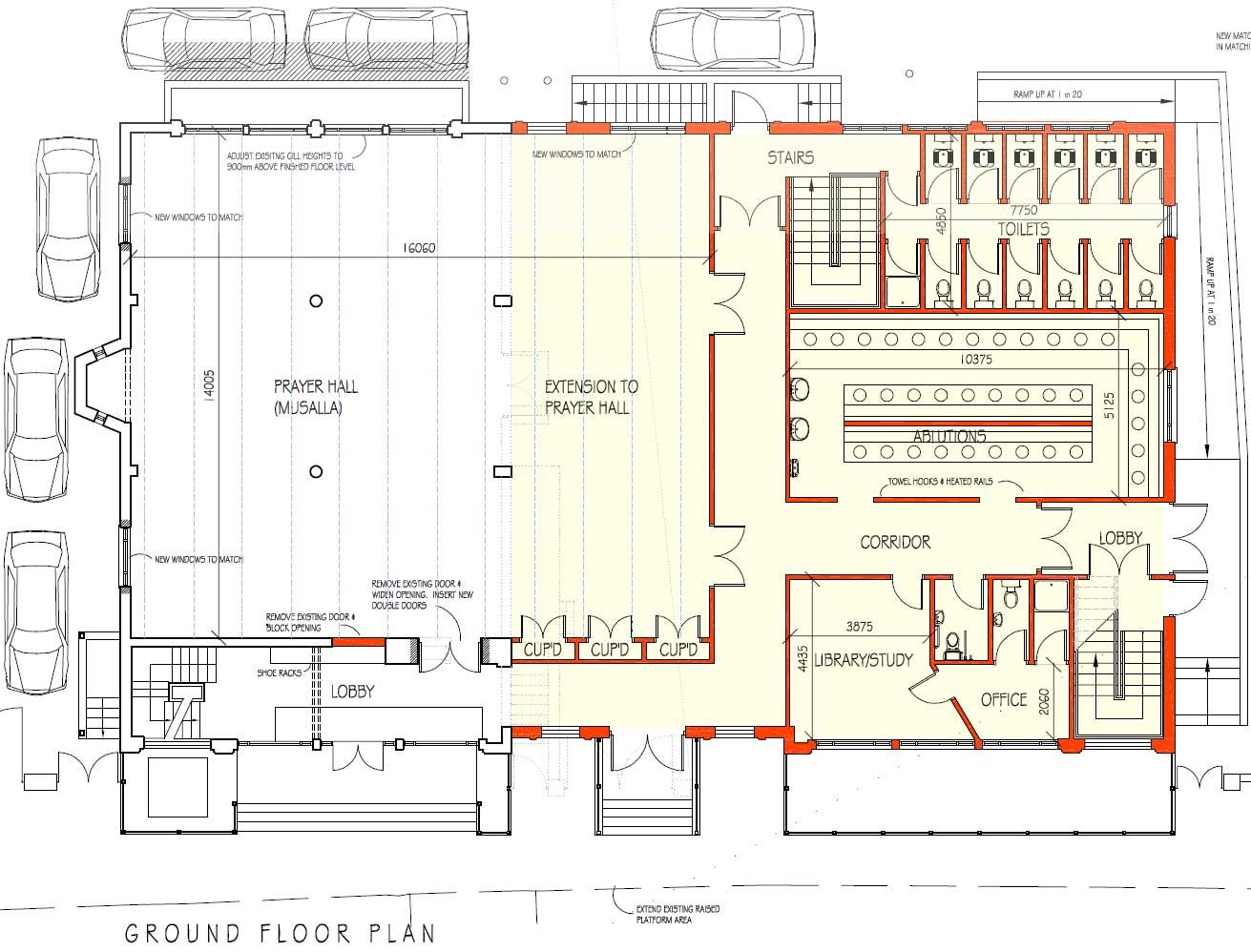 Mosque Plan Masjid Pinterest
