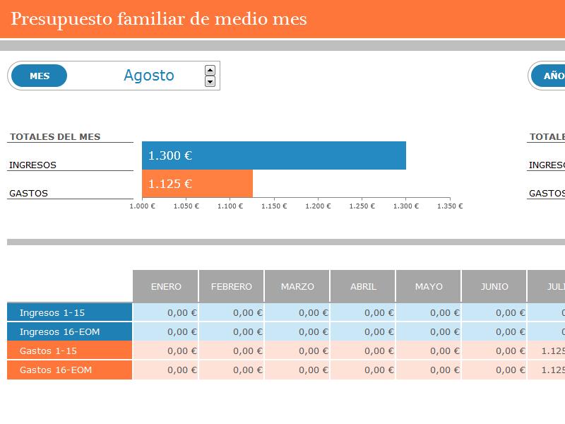Presupuesto familiar quincenal - Plantillas - Office.com   Ideas de ...