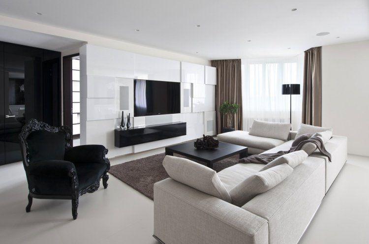 Salon moderne design en 47 idées par Alexandra Fedorova   Salons ...