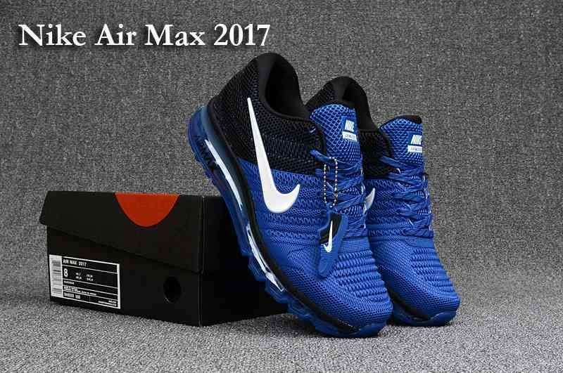 Nike Air Max 2017 Men Sapphire Blue Black KPU Shoes | Nike