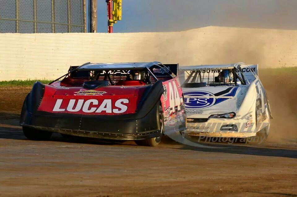 Earl pearson jr and jared landers dirt racing dirt