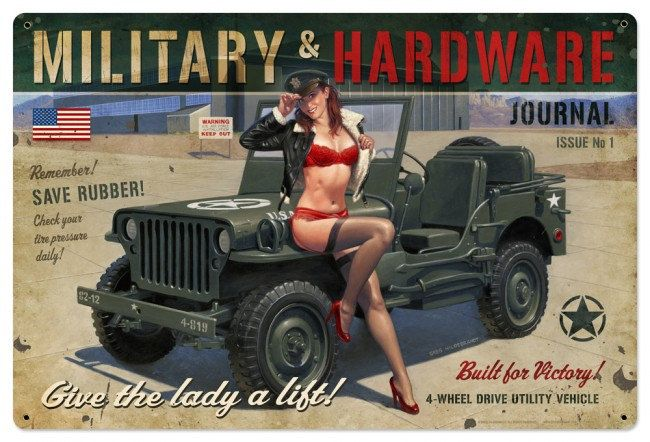 Metal Signs Home Decor quote signs home decor best home decor Military Hardware Patriotic Pin Up Girl Art On Metal Sign Vintage Style Home Decor Wall Art