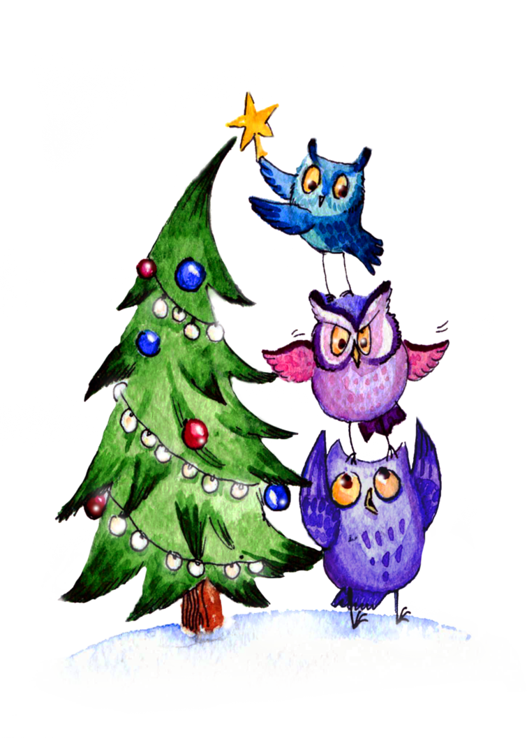 Owls Christmas   Owls   Pinterest   Owl, Holidays and Owl art