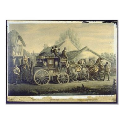 London Royal Mail coach illustration