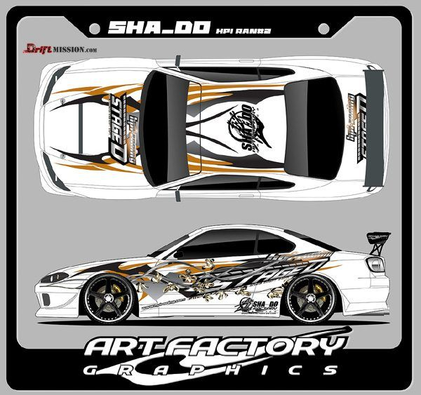 Sha do graphic design and decals driftmission your home for rc drifting
