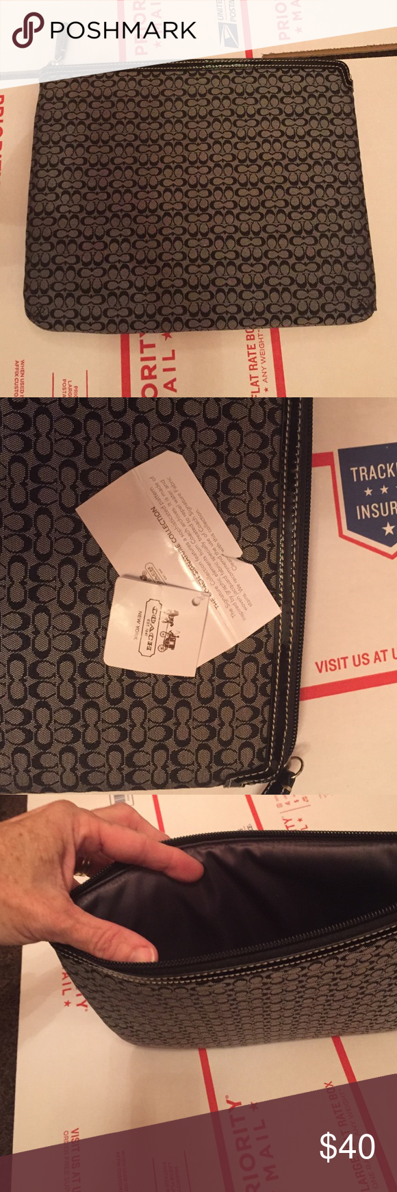 COACH IPAD CASE Perfect for back to school or office. Coach Bags Cosmetic Bags & Cases