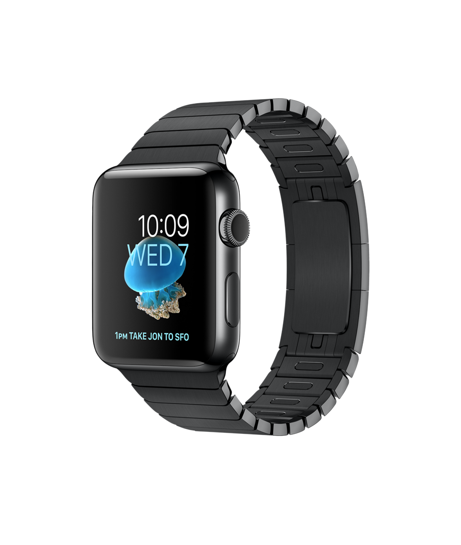 Apple Watch Space Black Stainless Steel Case with Space