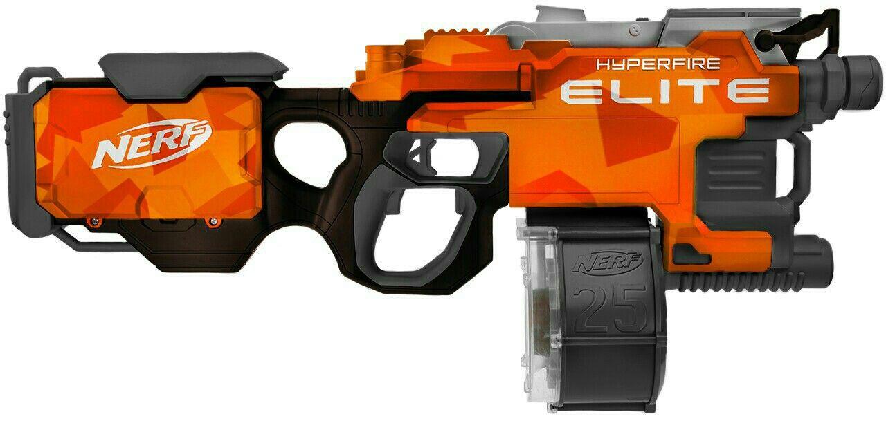 Nerf Hyperfire custom paintjob Orange Black by Adam Kuling