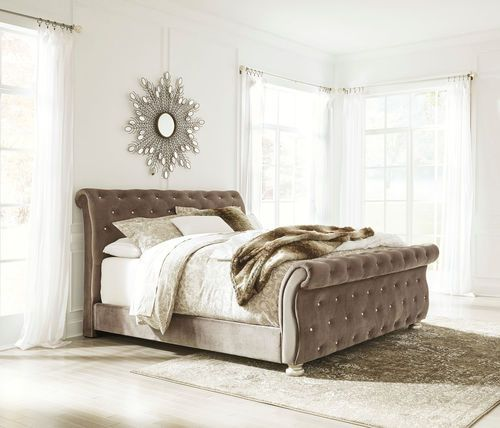 Ashley Furniture In Fresno Ca: Ashley Cassimore Gray California King UPH Bed