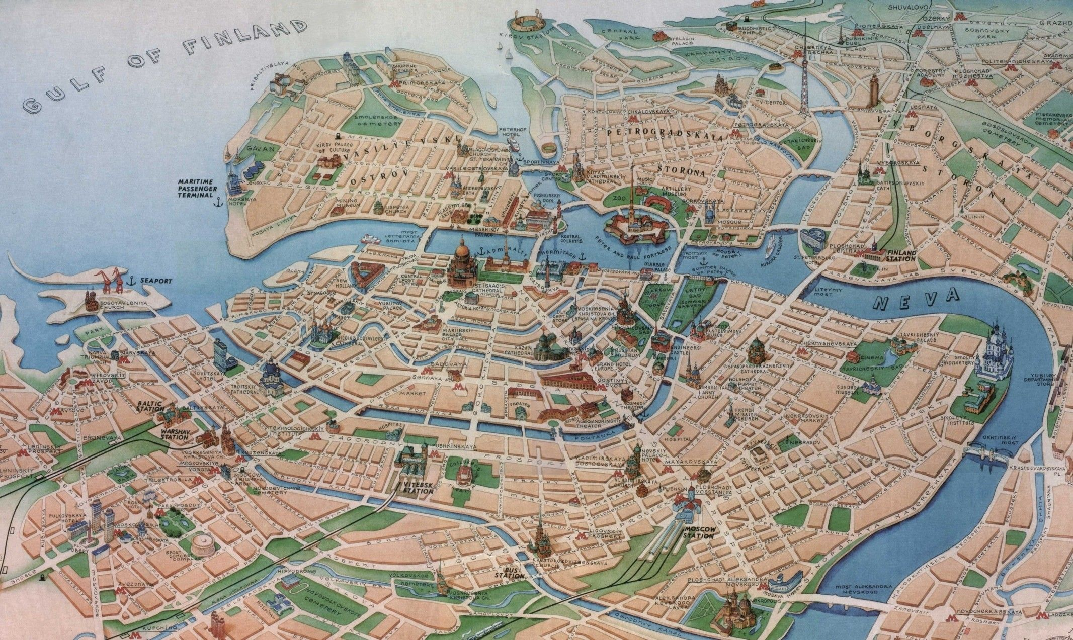 StPetersburg-Map | saint petersburg | Pinterest